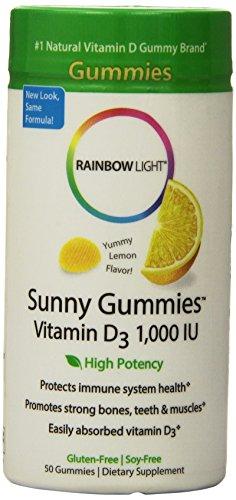 Rainbow Light 柠檬味维生素D3软糖 50粒*3瓶图片