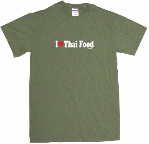 I Heart Love Thai Food Men'S Tee Shirt Medium-Olive