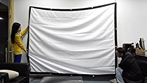 100 Inches Portable Screen Canvas 3D Video Film Cinema Theater Movies Projection can fold high brighrness White Screen Multimedia Projector Front Projection Screen