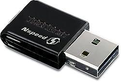 TRENDnet Mini Wireless N Speed USB 2.0 Adapter TEW-649UB (Black)