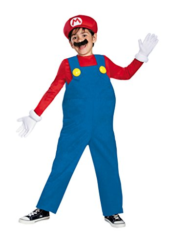 Boys Mario Bros Deluxe Kids Child Fancy Dress Party Halloween Costume