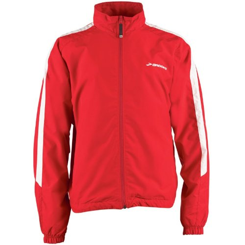 Brooks Mens Team Podium Europe Running Jacket Red