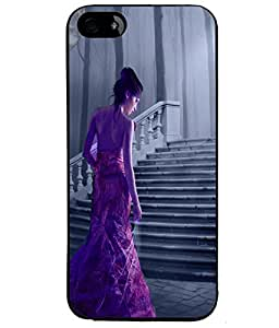 Fuson Nice Girl Back Case Cover for APPLE IPHONE 5 - D3787