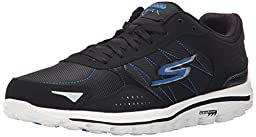 Skechers Performance Men\'s Go Walk 2-Lynx Balistic Walking Shoe, Black/Blue, 9.5 M US