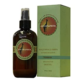 Out Of Africa Verbena Shea Butter Body Oil, 8-Ounce Bottle