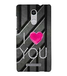 I love You lot 3D Hard Polycarbonate Designer Back Case Cover for Xiaomi Redmi Note 3 :: Xiaomi Redmi Note 3 (3rd Gen)