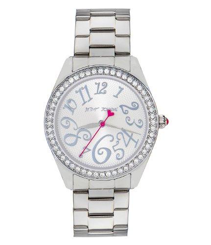 Betsey Johnson Silver Bling Bling Time Boyfriend Watch