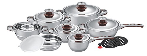 Pureware 16-piece Stainless Steel Cookware Set