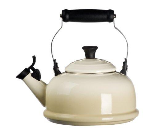Le Creuset Enamel-on-Steel Whistling 1-4/5-Quart Teakettle, Dune (Tea Kettle Whistling Le Creuset compare prices)