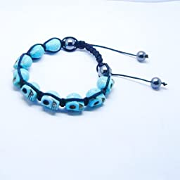 0.99® Color Skull Turtouise Fashion Bracelet (Blue)