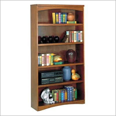 "Kathy Ireland Home by Martin Furniture MO3670 California Bungalow 70"" H Five Shelf Bookcase"