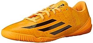 adidas Performance Men's F10 IN Messi Soccer Shoe, Solar Gold/Black/Black, 10.5 D US