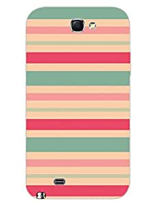 Pastel Stripes - Hard Back Case Cover for Samsung Note 2 - Superior Matte Finish - HD Printed Cases and Covers