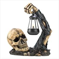 Gifts & Decor Sinister Skull with Lantern Halloween Party Decoration from Furniture Creations