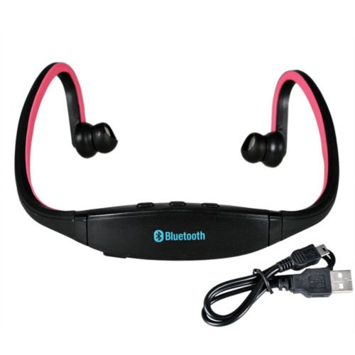 Globalebuy High-Definition Wireless Bluetooth Headphones Sports Headset For Iphone 4 4S 5S Samsung Htc Smartphone (Red)