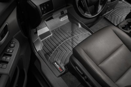 WeatherTech - 443051 - 2011 Ford F-250/F-350/F-450/F-550 Black 1st Row FloorLiner (443051 Weathertech compare prices)