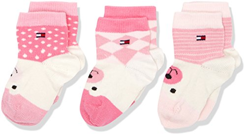 tommy-hilfiger-baby-madchen-socken-th-where-is-the-bear-giftbox-3p-3er-pack-rosa-pink-lady-422-19