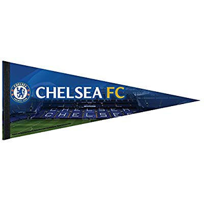 Int'l Soccer English Premiership Chelsea Stadium Premium Quality Pennant, Large/12 x 30-Inch, White