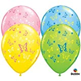 "Butterfly Print Assorted 11"" Latex Balloons (5 pack)"