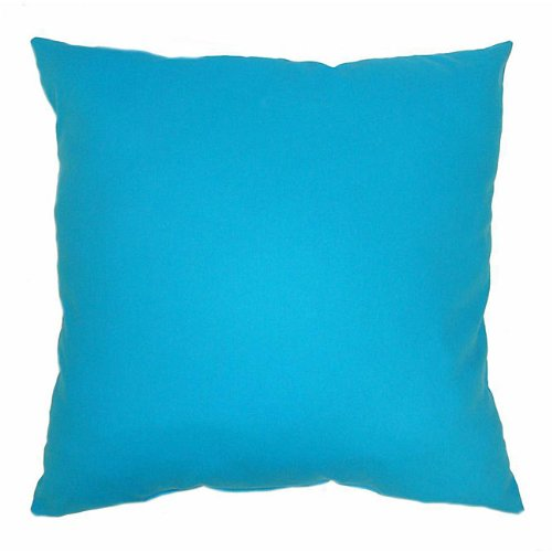 American Mills Solid Turquoise 16 by 16 Pillow, Set of 2