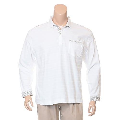 (インターメッツォ) INTERMEZZO 大きいサイズ メンズ 花柄 切替 長袖Tシャツ 【4315273011】 ホワイト / 3L