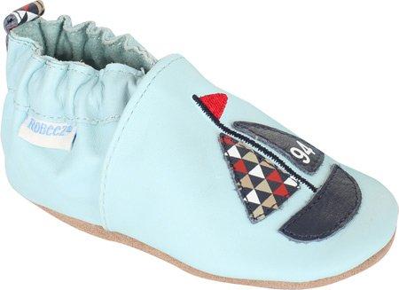 Robeez Lil Mariner Crib Shoe (Infant/Toddler),Light Blue,6-12 Months M Us Infant front-665750