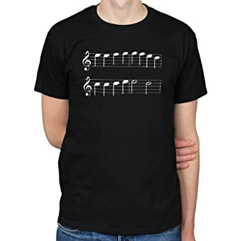 Ludwig Van Beethoven Ode To Joy Musical Notation T-Shirt, Black, Small