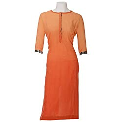 Moh Women'S Cotton Straight Kurta (M_8_Spk63_L _Orange _Large)