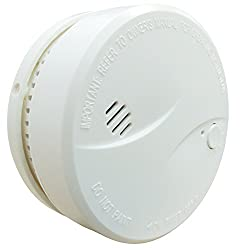 HEIMAN®10 Years Lifetime Built in Lithium Battery Independent Smoke Detector with Photoelectric Sensor by HEIMAN