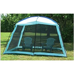 Buy Camping Screen Room Full Enclosure Canopy Shade Gazebo with Dome Top Outdoor Screen...