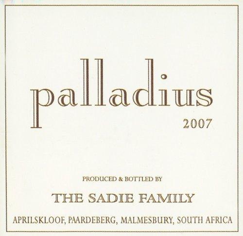 2007 Palladius Swartland White Blend 500 Ml