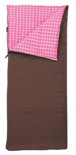 Slumberjack Big Timber Women's 20-Degree Sleeping Bag, 6-Feet 6-Inch, Brown