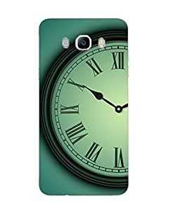 Samsung Galaxy J7 2016 Time Printed Green Hard Silicon Back Cover By Case Cover