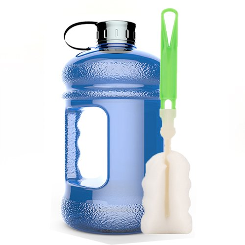 High-Capacity New Wave Jug Resin Sports Water Bottles(2.2 Liter)(deep blue) (Water Jug Orange compare prices)