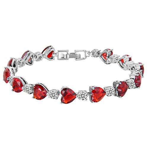 elequeen-womens-silver-tone-full-zircon-love-heart-tennis-bracelet-ruby-color-67-14-extender
