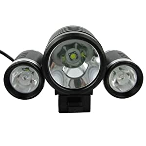 New Highly Trustfire Super Bright 3x Cree Xml T6 Led Bicycle Headlight 3 Modes 3800 Lumens + 6400 Mah Battery + Charger