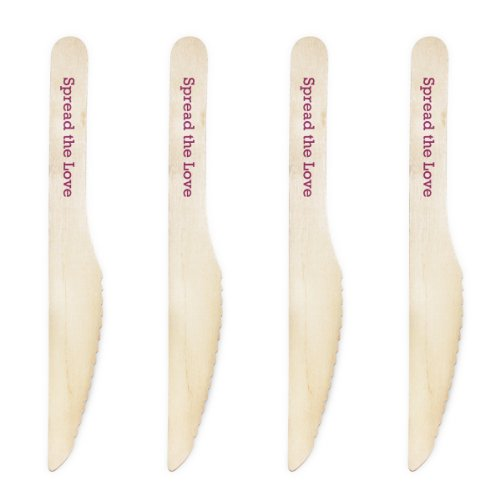 Dress My Cupcake Natural Wood Candy 500-Pack Buffet Knives Diy Kit, Spread The Love, Plum Purple
