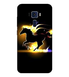Evaluze RUNNING HORSE Printed Back Cover for ASUS ZENFONE 3