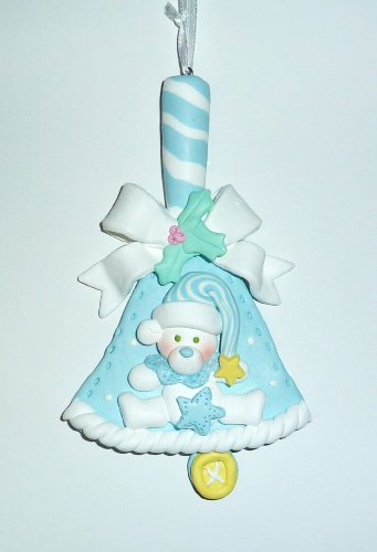 Ornament, Christmas - Baby, Blue Bell, Personalized front-107096