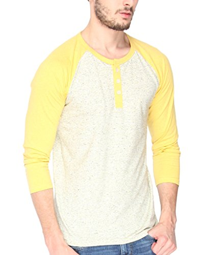 Campus-Sutra-Men-cotton-Plain-Round-Neck-Full-Sleeve-Henley-T-Shirt-Cream