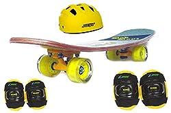 Jaspo Dragon Fire Intact Medium Skateboard Combo (24*6