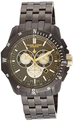 Chase-Durer Men's 850.4GGM Crossfire Gunmetal Ion-Plated Stainless Steel Chronograph Watch