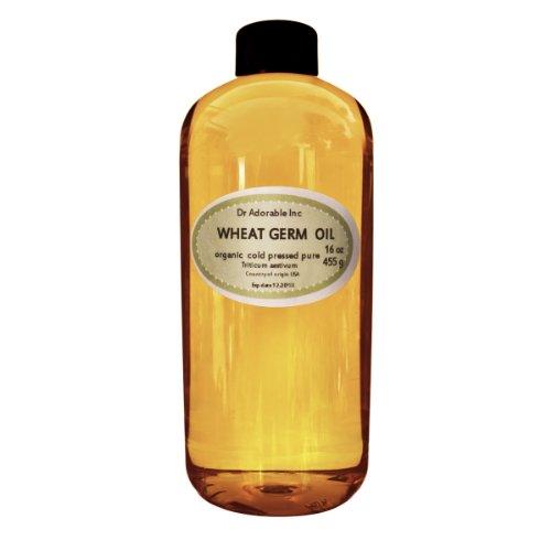 Wheat Germ Oil Cold Pressed 100% Organic Pure 16 Oz / 1 Pint
