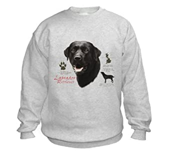Black Labrador Sweatshirt (Small, Ash Grey)