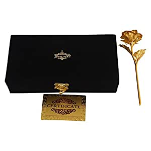Jewel Fuel Gold Foil Rose In 24K Gold (25Cm) With Exclusive Velvet Gift Box