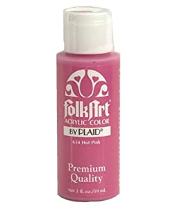 Folk Art 634 2-Ounce Acrylic Paint, Hot Pink