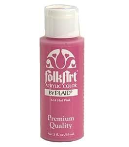 Folk Art 634 2-Ounce Acrylic Paint, Hot Pink