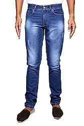 John Wills Men's Slim Fit Jeans (MCR1057, Blue, 30)