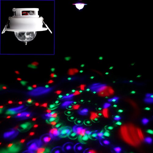 Kkmoon Rgb 3W Led Rotating Stage Light Full Color Voice-Activated Dj Disco Ceiling Lamp For Home Party,Bar,Club,Holiday,Show,Karaoke,Christmas(Multi Changing Color)