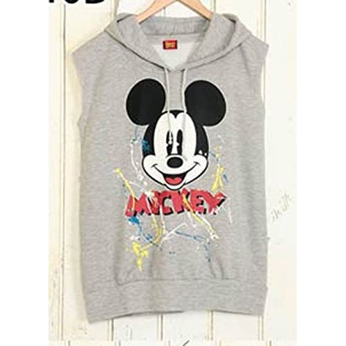 ミッキーノースリスウェットパーカー  < ディズニー Disney  ミッキーマウスパーカー  ミッキーマウス ミッキーパーカー ミニー MINNIE パーカー minnie  T ミッキー mickey MICKEY MOUSE ディズニーランド  > (ミッキーグレー)